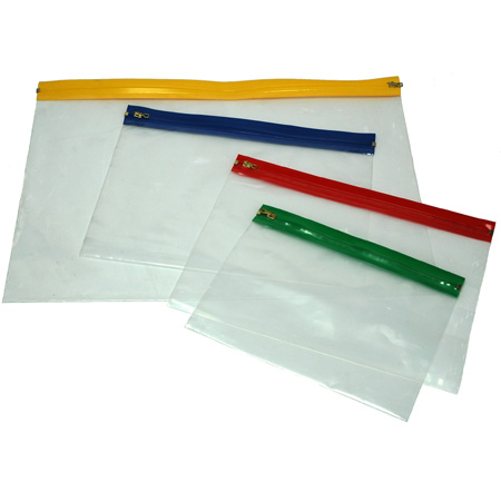 Schleiper Pochette Pour Documents Plastique Transparent Fermeture Clair Schleiper