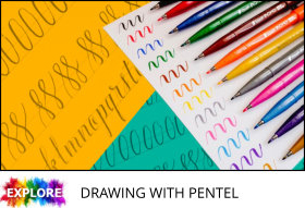 8 drawing with pentel