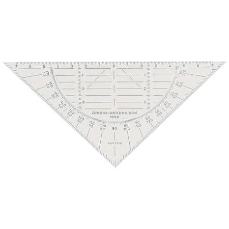 Aristo Geometry set square - hypothenuse 16cm