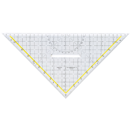 Aristo Set square - 1 beveled side - with grip