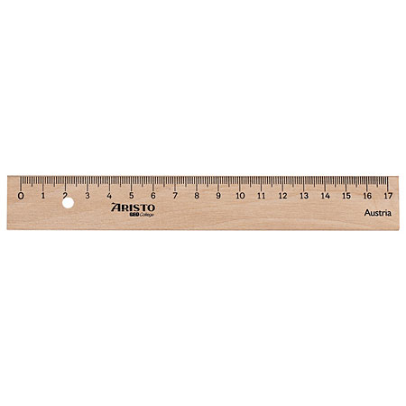 Aristo Wooden ruler - with metal insert