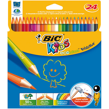 Bic Kids Ecolutions Evolution - card box - assorted colour pencils