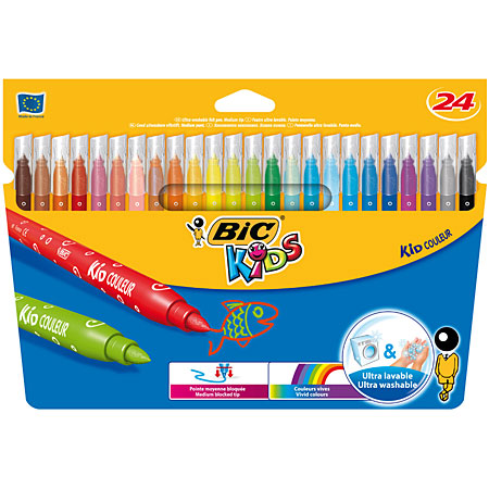 Bic Kids Kid Couleur - card box - assorted markers
