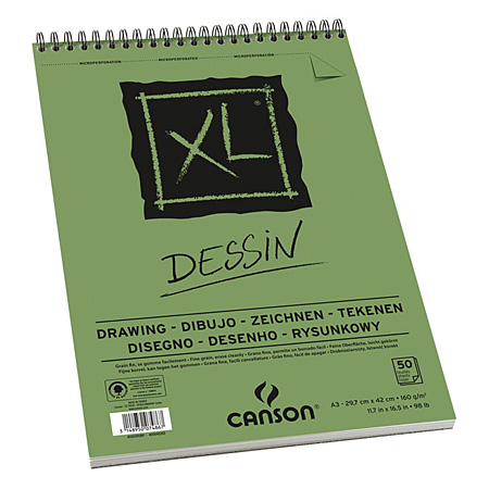Canson XL Dessin - wirebound drawing paper pad - 50 sheets 160g/m²