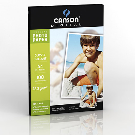 Canson Digital Everyday - papier photo brillant - 180g/m² - feuilles A4
