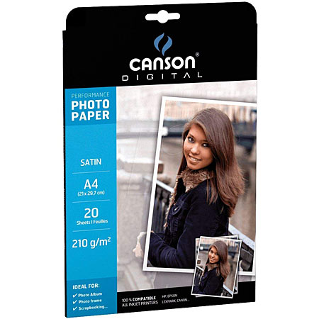 Canson Digital Performance - papier photo satiné - 210g/m² - pochette feuilles A4