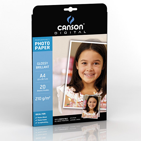 Canson Digital Performance - papier photo brillant - 210g/m²