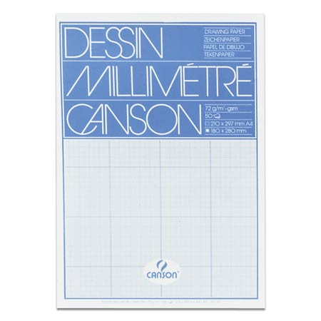 Canson - Mm-lined drawing paper pad - 72g/m²