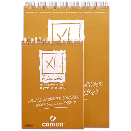 Canson XL Extra White - wirebound sketch pad - sheets 90g/m²
