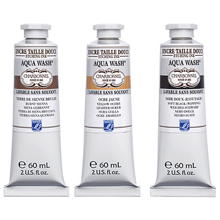 Charbonnel Aqua Wash - etching ink - water washable - 60ml tube