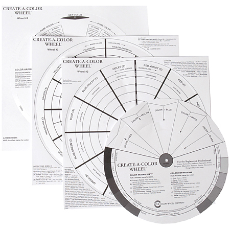Color Wheel Company Create a color Wheel - blank colour wheel with instructions in english - diameter 21cm