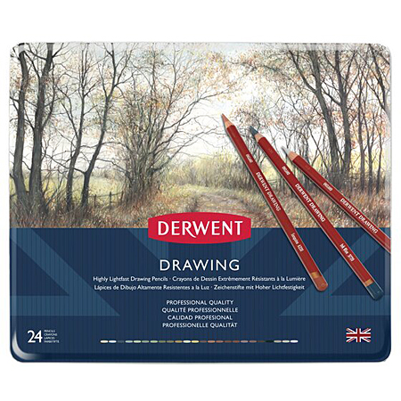Derwent Drawing - tin - assorted colour pencils
