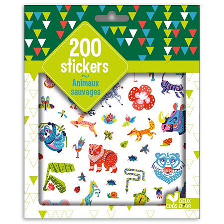 200 stickers - animaux sauvages