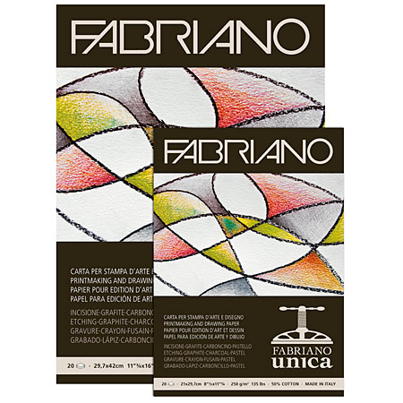Fabriano Unica - etching paper pad - 20 sheets 250g/m²