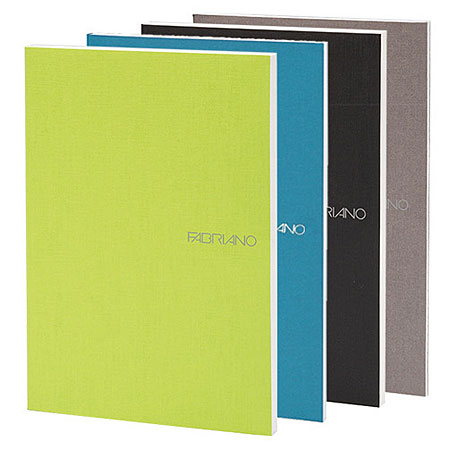 Fabriano EcoQua - stapled book - cardboard cover - 80 pages - 14,8x21cm (A5) - blank