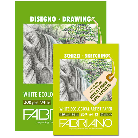 Fabriano Disegno Ecologico - drawing paper pad - white recycled paper