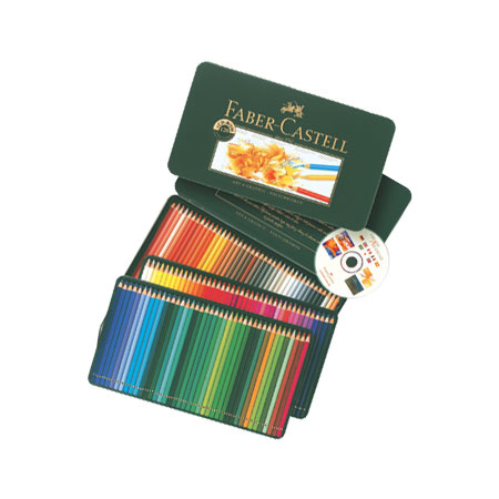 Faber Castell Polychromos - metal case - assorted colour pencils