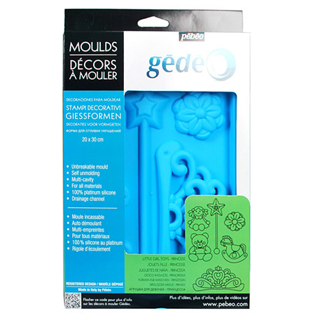 Pebeo Gedeo Silicone Mould Princess 20 x 30cm