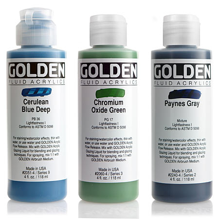 Golden Fluid - acrylique extra-fine - flacon 119ml