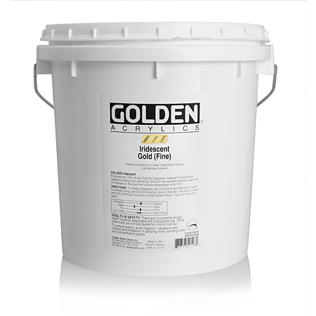 Golden Heavy Body Iridescent - acrylique extra-fine - couleurs - seau 3,78l