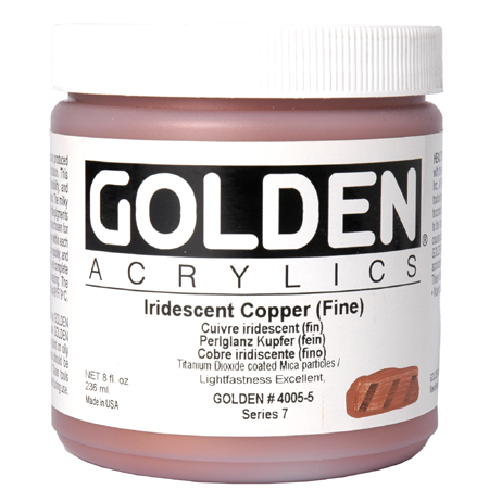 Golden Heavy Body Iridescent - acrylique extra-fine - couleurs - pot 236ml