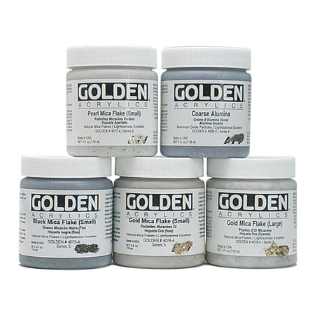 Golden Heavy Body Iridescent - acrylique extra-fine - particules - pot 236ml