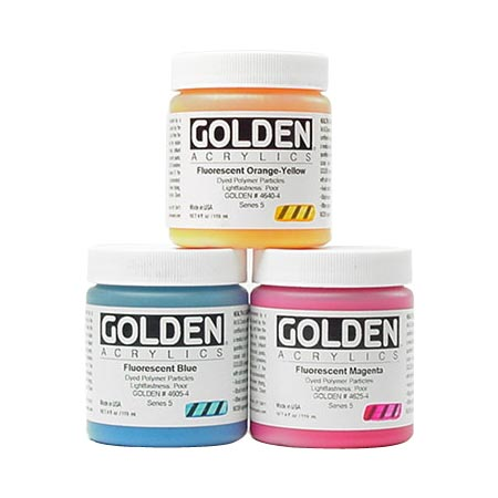 Golden Heavy Body Fluorescent - acrylique extra-fine - pot 119ml