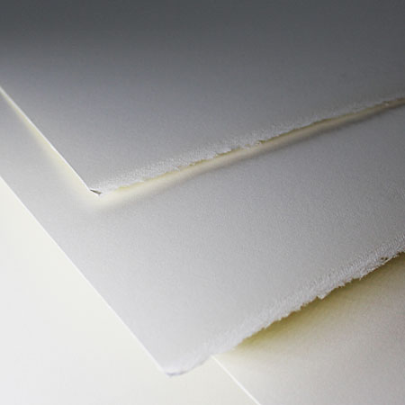 Waterford Papier aquarelle - feuille 100% coton - 56x76cm - 2 bords frangés - grain satiné extra-lisse
