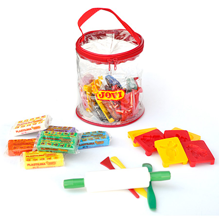 Jovi Plastilina - modelling clay set - plastic bag - 6 assorted blocks & accessories