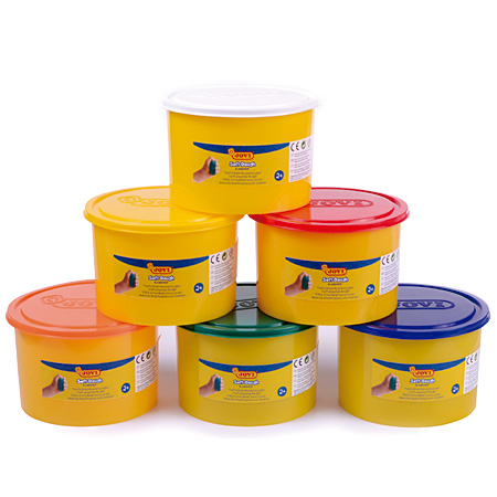 Jovi Blandiver Soft Dough - modelling clay set - 6 assorted jars 460g