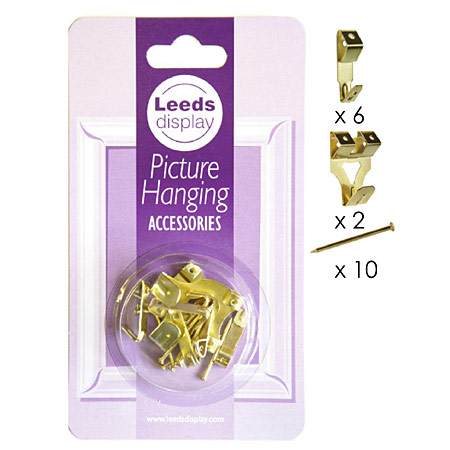 Leeds Display Assorted picture hooks with pins