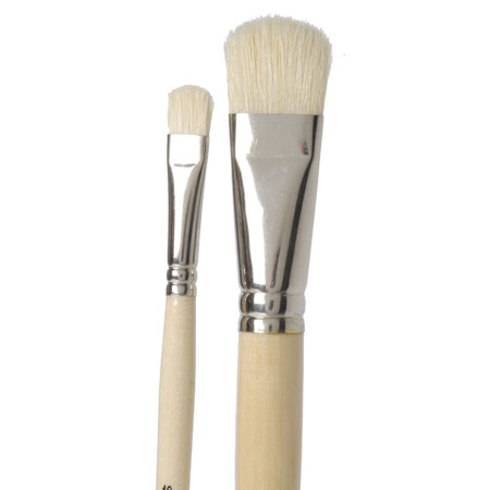 Peacock Brush series 3324 - bristle - filbert - long handle