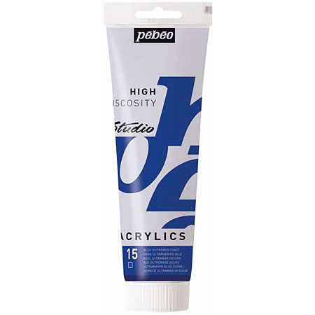 Pébéo Studio Acrylics High Viscosity - acrylique fine - tube 250ml