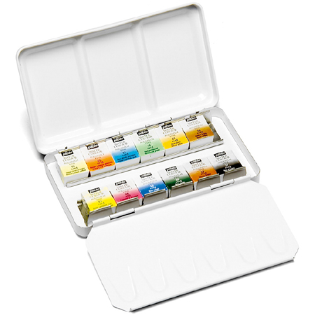 Pébéo Fine watercolor - pocket metal box - 12 half pans