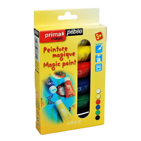 Pébéo Prima Magic - Set Découverte - assortiment de 6 flacons 20ml