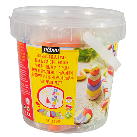Pébéo Chalk paste - pail 10x110g blocks - 6 colours