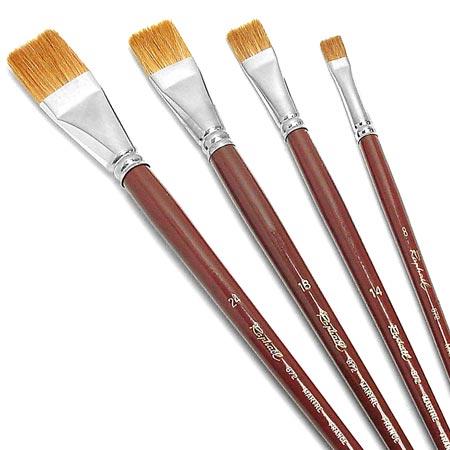 Size 08 Bright Oil Paint Brush Raphael Fresco Red Sable Series 872