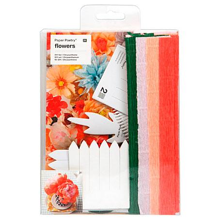 Rico Design Paper Poetry Flowers Diy Set Crepe Paper Flowers