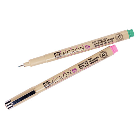 Sakura Pigma Micron - calibred fineliner with pigmented ink - colours - 0,45mm