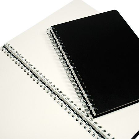 Seawhite Euro Pop - wire-bound sketchbook - hard cover black - 50 white sheets 160g/m²
