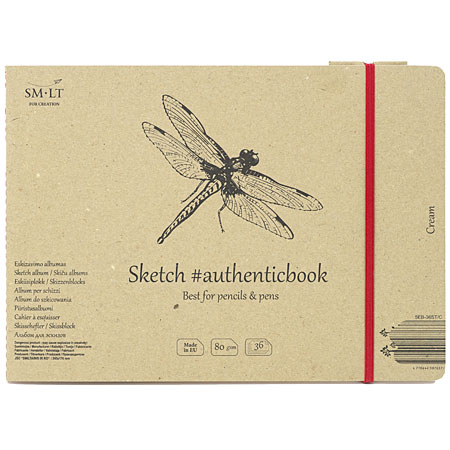 SM-LT Art #authenticbook - sketch album (cream color paper) - cardboard cover - 36 sheets 80g/m² - 24,5x17,6cm