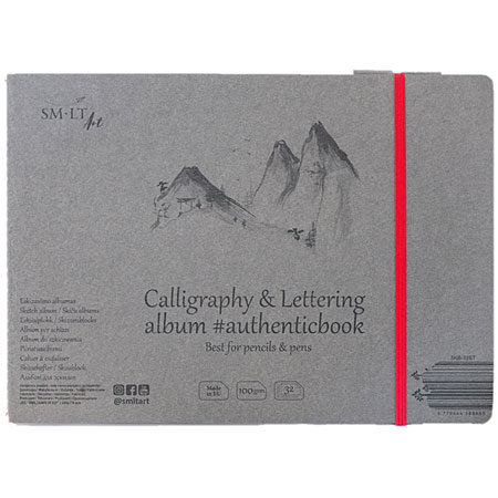 SM-LT Art #authenticbook - calligraphy album - cardboard cover - 32 sheets 100g/m² - 24,5x17,6cm