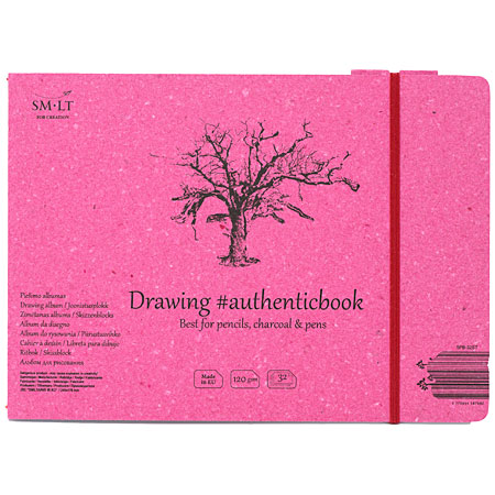 SM-LT Art #authenticbook - drawing album - cardboard cover - 32 sheets 120g/m² - 24,5x17,6cm