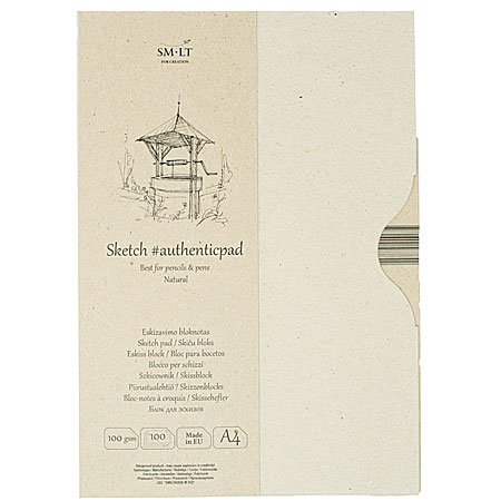 SM-LT Art #authenticpad - sketch pad - 100 recycled sheets 100g/m² - A4 - natural