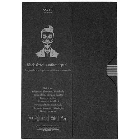 SM-LT Art #authenticpad - sketch pad - 30 sheets 165g/m² - A4 - black