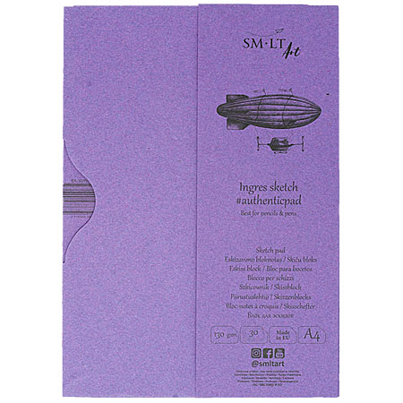 SM-LT Art #authenticpad - sketch pad (Ingres paper) - 30 sheets 130g/m² - A4