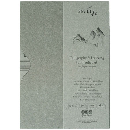 SM-LT Art #authenticpad - calligraphy wire-bound pad - 50 sheets 100g/m² - A4
