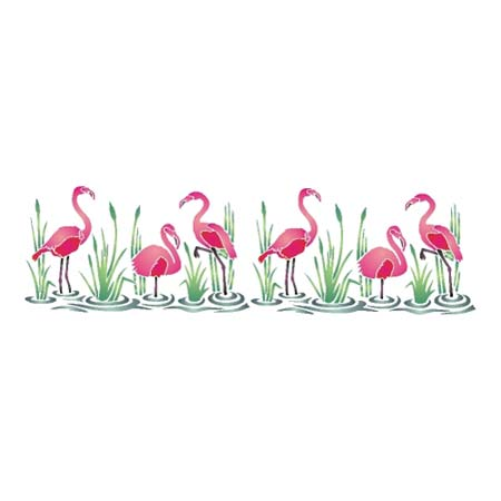 Spectrum Pochoir - 30x19cm - flamingos