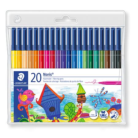 STAEDTLER Noris Club Fibre-tip pens with  20Colours
