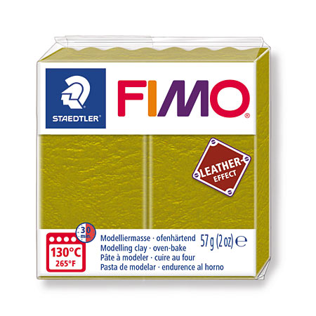 Staedtler Fimo Leather Effect - polymer clay - 57g block - leather look